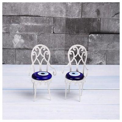 İhouse Ih291 Sandalye Nazarlık Beyaz Dekoratif Süs