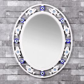 İhouse Ih306 Balık Desenli  Beyaz Ayna