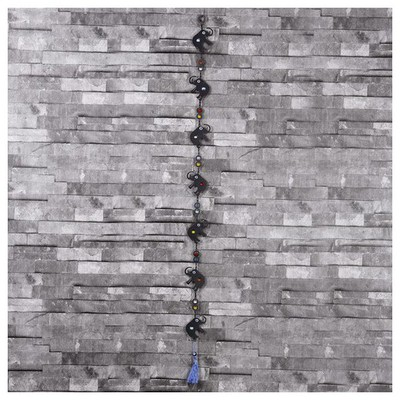 İhouse Ih311 Nazarlıklı Askılı Duvar Süsü Siyah Ev Gereçleri