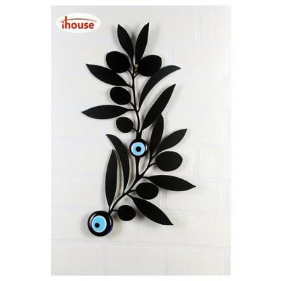 İhouse Ih328 Nazarlıklı Duvar Süsü Siyah Dekoratif Süs