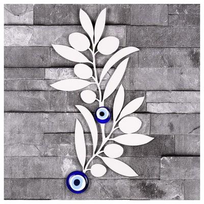 İhouse Ih329 Ağaç Dalı Nazarlık Beyaz Dekoratif Süs