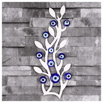 İhouse Ih338 Ağaç Dalı Nazarlık Beyaz Dekoratif Süs