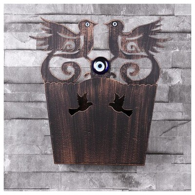 İhouse Ih347 Dekorlu Kapı Sepeti Eskitme Siyah Dekoratif Süs