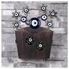 İhouse Ih349 Dekorlu Kapı Sepeti Eskitme Siyah Ev Gereçleri