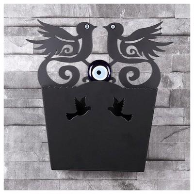 İhouse Ih350 Dekorlu Kapı Sepeti Siyah Dekoratif Süs