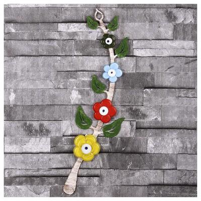 İhouse Ih364 Ağaç Dalı Nazarlık Eskitme Beyaz Dekoratif Süs