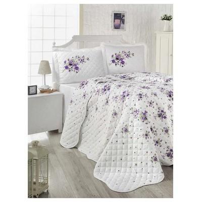 Clasy Iziv2 Yatak Örtüsü Çift Kişilik Lila Ev Tekstili
