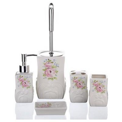 İhouse Jrb12381 Banyo Seti 5 Parça Krem Banyo Gereçleri