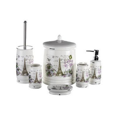 İhouse Kh1480 Porselen  6 Lı Krem Banyo Seti