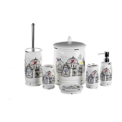 İhouse Kh1481 Porselen  6 Lı Krem Banyo Seti