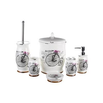 İhouse Kh445 Porselen Banyo Seti 6 Lı Krem Banyo Gereçleri