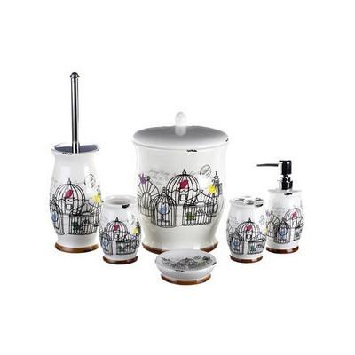 İhouse Kh446 Porselen  6 Lı Krem Banyo Seti