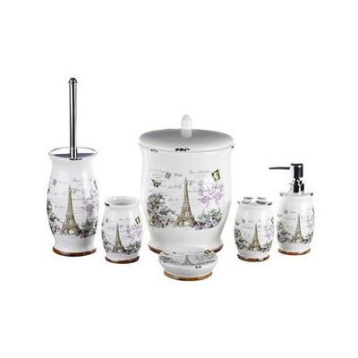 İhouse Kh447 Porselen Banyo Seti 6 Lı Krem