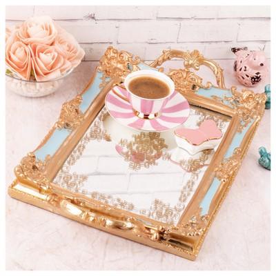 İhouse Krb0059 Dekoratif  Gold Tepsi