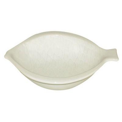 İhouse Lvn-0404 Seramik Mavi Balık Yemek Tabak Beyaz Küçük Mutfak Gereçleri
