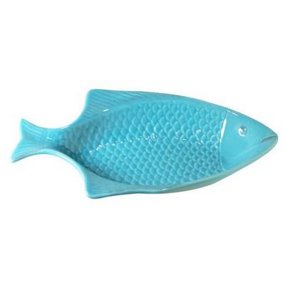 İhouse Lvn-0452 Seramik Mavi Balık Büyüksalata Kase Mavi