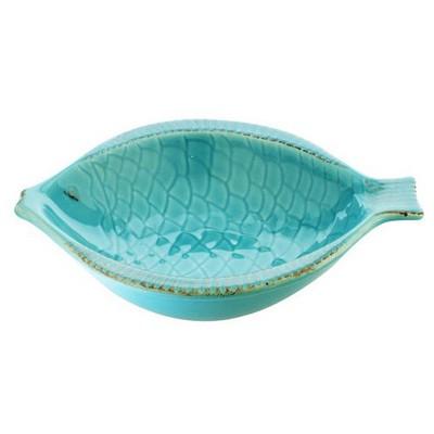 İhouse Lvn-0454 Seramik Mavi Balık Yemek Tabak Mavi Küçük Mutfak Gereçleri