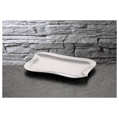 İhouse Lx05 Porselen Servis Tabağı Beyaz