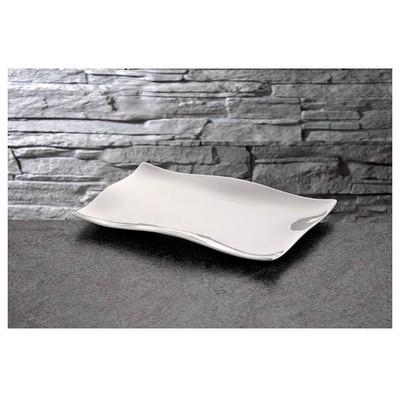 İhouse Lx14 Porselen Servis Tabağı Beyaz Küçük Mutfak Gereçleri