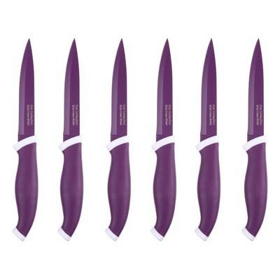 İhouse Ma112-02Mr Seramik Kap. 6 Parça Bıçak Seti Mor