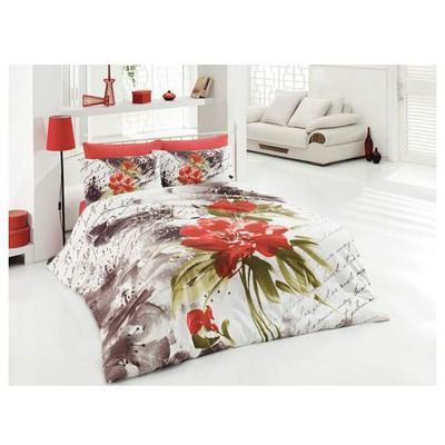 Örtüm Nisan Nevresim Takımı Kırmızı Çift Kişilik Ev Tekstili