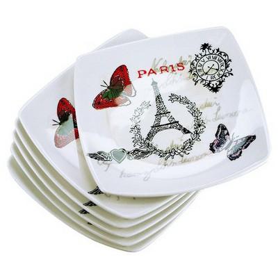 İhouse Prt-1018 Pasta Tabağı 6 Lı Set Krem Servis Gereçleri