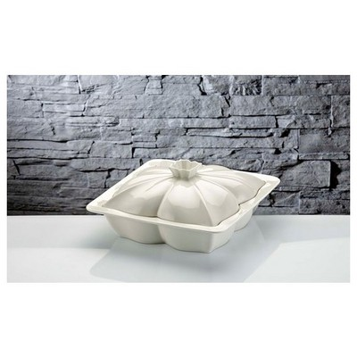 İhouse Rx06 Porselen  Beyaz Fırın Kabı