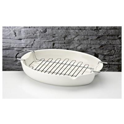 İhouse Rx15 Porselen Hasırlı  Beyaz Fırın Kabı