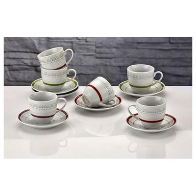 İhouse Shs01a-türk Kahve Seti 6 Lı-beyaz Fincan Takımı