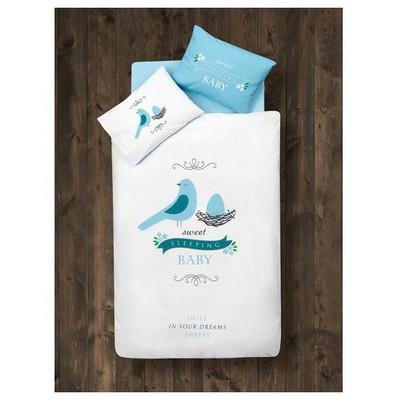 Clasy Sweet Sleep Tek Kisilik Ranforce Bebek Nevresim Takımı Mavi Ev Tekstili
