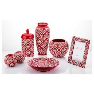 İhouse Xy02e Salon Takımı Kırmızı Dekoratif Ürünler
