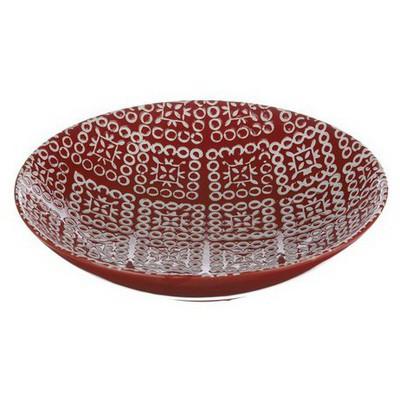 İhouse Xy02et Dekoratif Tabak Kırmızı Dekoratif Ürünler