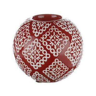 İhouse Xy06e Dekoratif Şamdan Kırmızı Mumluk