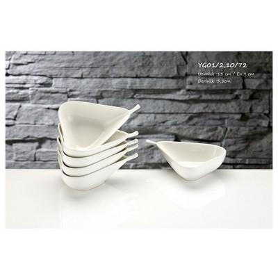 İhouse Yg01 Porselen Armut Kase 6 Lı Beyaz Servis Gereçleri