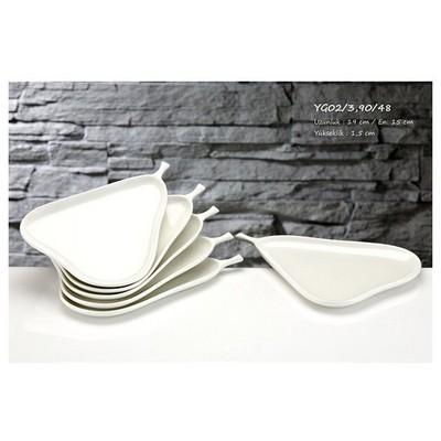 İhouse Yg02 Porselen Armut Kase Beyaz Servis Gereçleri