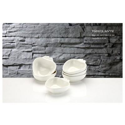 İhouse Yg05 Porselen Elma Kase Beyaz Servis Gereçleri
