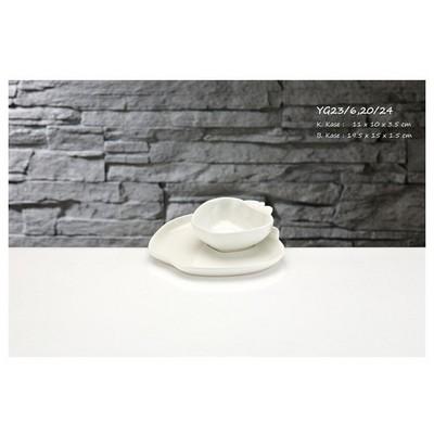 İhouse Yg23 Porselen 2 Li Elma Kase Beyaz Servis Gereçleri