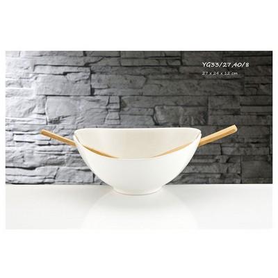 İhouse Yg33 Porselen Salata Kasesi Beyaz Servis Gereçleri
