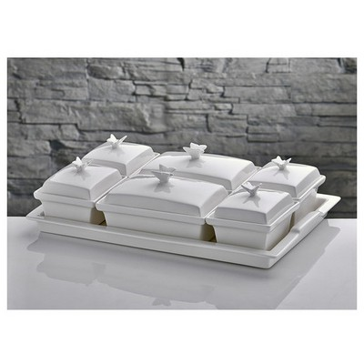 İhouse Yg58b Porselen Kahvaltılık Beyaz Kahvaltı Takımı