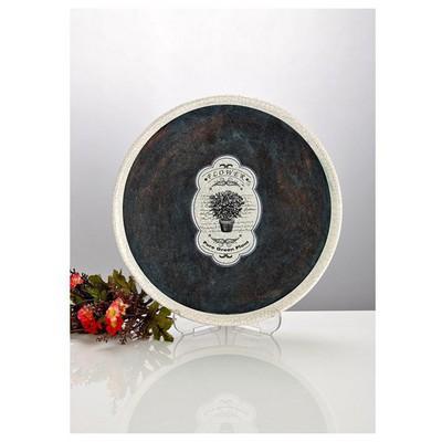 İhouse Zx11-dekoratif Tabak-lacivert Dekoratif Ürünler