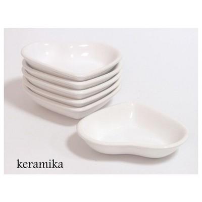 Keramika Cerezlık Kalp 14 Cm Beyaz 004 A Çerezlik