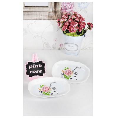 Keramika Kayık Romeo 19 Cm Beyaz 004 Pınk Rose Tabak