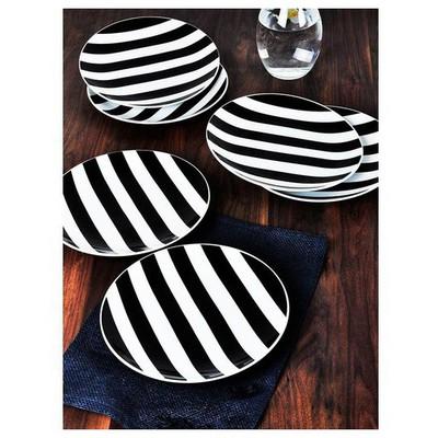 Keramika Tabak Alfa Servıs 27 Cm Sımetrı Siyah Küçük Mutfak Gereçleri
