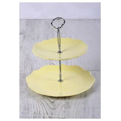 Keramika Set Meyvalık Romeo 2 Katlı Sarı Acık 103 A Servis Gereçleri
