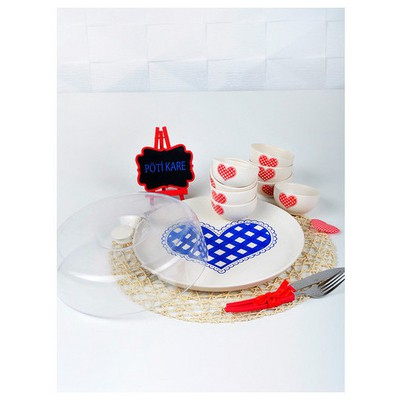 Keramika Set Hıtıt Kahvaltı 9 Parca Potıkare A Kahvaltı Takımı