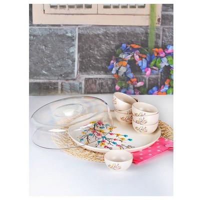 Keramika Set Hıtıt Kahvaltı 9 Parca Ilkbahar Tomurcuk A Kahvaltı Takımı