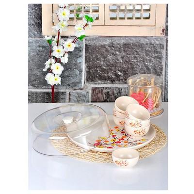 Keramika Set Hıtıt Kahvaltı 9 Parca Sonbahar Tomurcuk A Kahvaltı Takımı