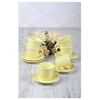 Keramika Takım Cay Romeo 12 Parca Sarı Acık 103 A Çay Seti