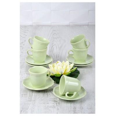 Keramika Takım Cay Romeo 12 Parca Yesıl Nıl 306 A Çay Seti