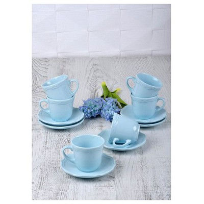 Keramika Takım Cay Romeo 12 Parca Acık Turkuaz 424 A Çay Seti